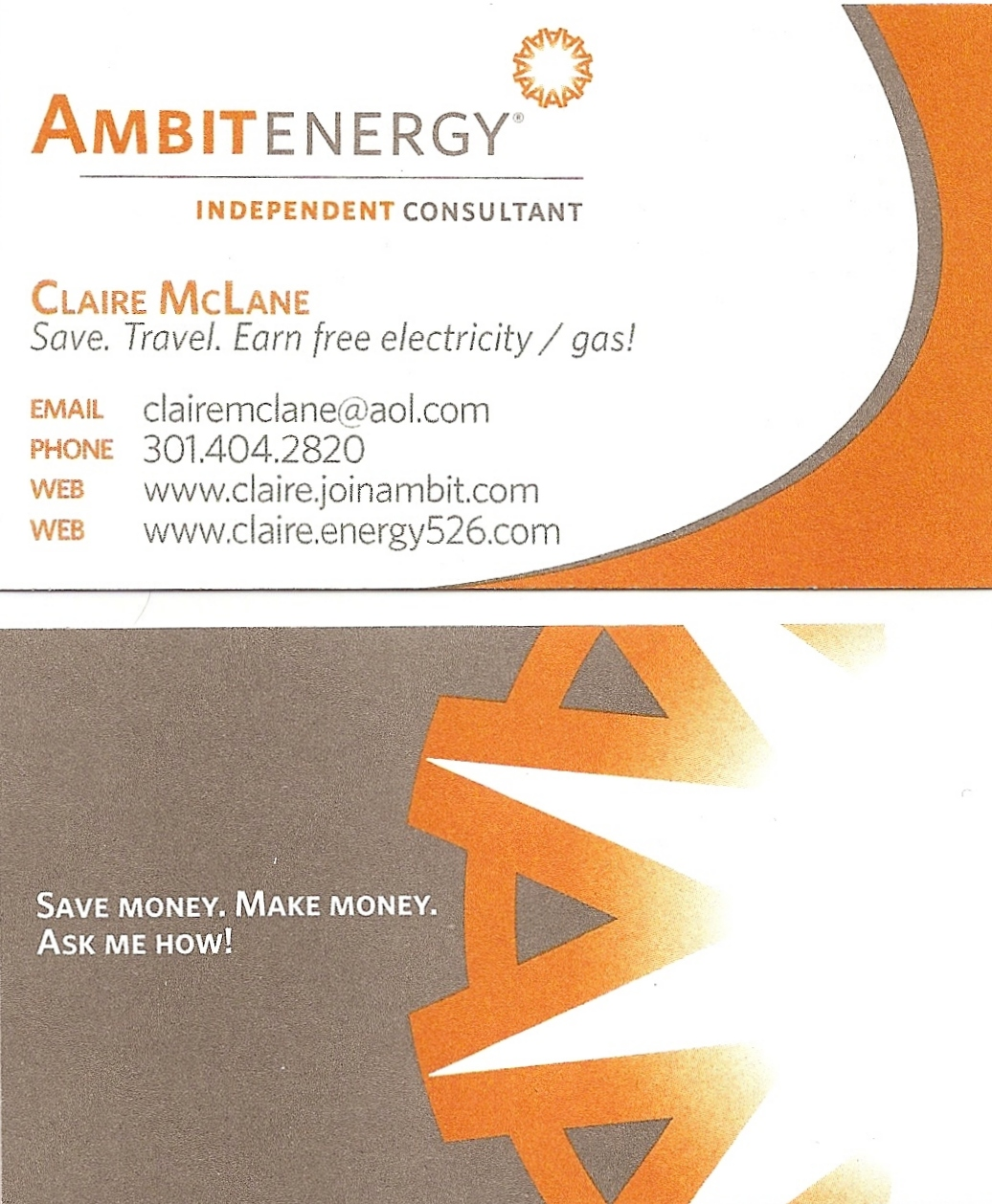 Ambit business cards ambit business card design 3 2 x 35 business x business card template business card sample ambit energy business card template wajeb Image collections